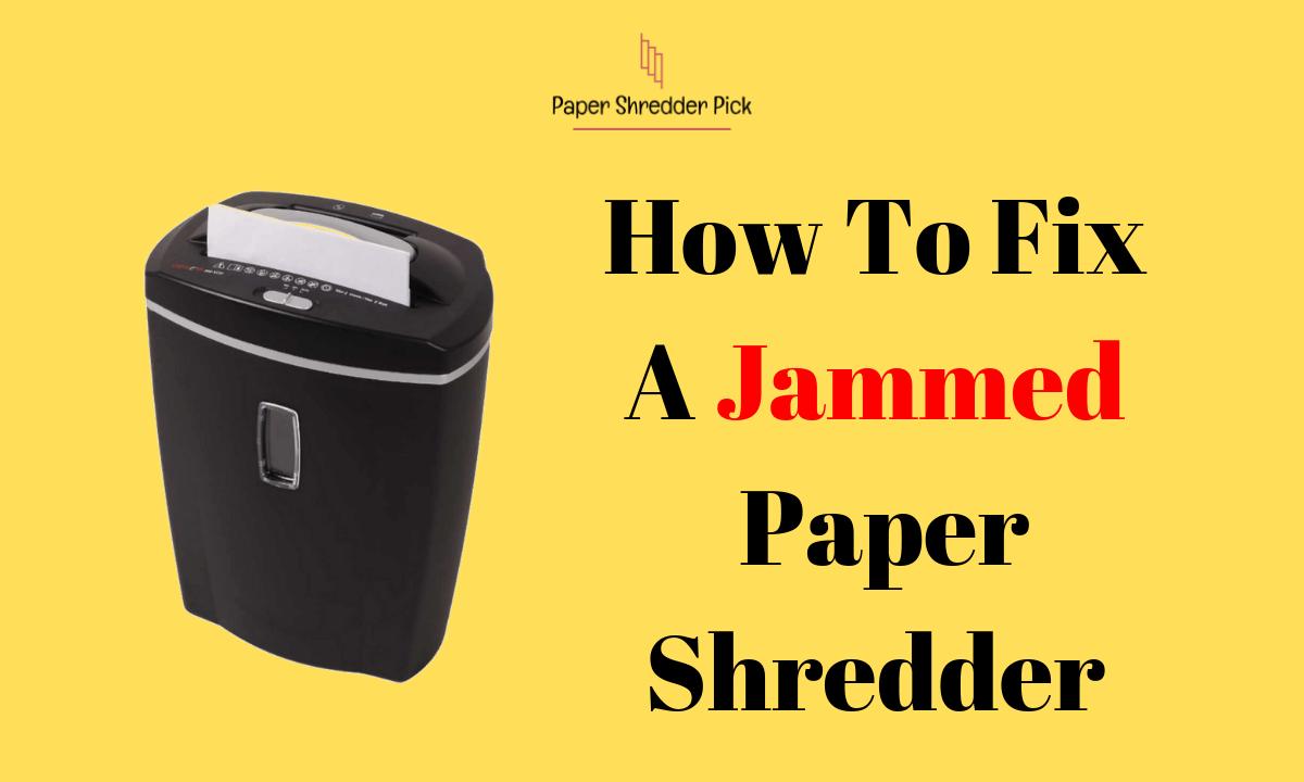 How to Unjam a Paper Shredder 1