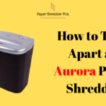 How to Take Apart an Aurora Paper Shredder 4